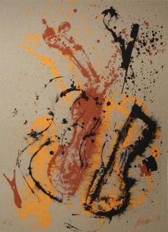 Viva Stradivarius, Pop Art Serigraph by Arman