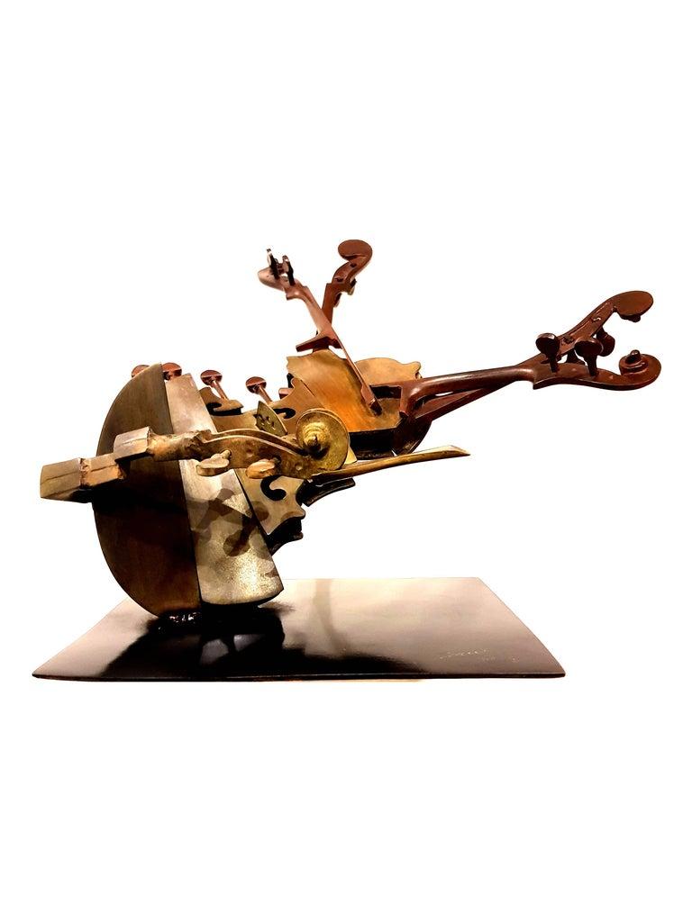 Arman - Rare Signed Violin Bronze Sculpture For Sale 1