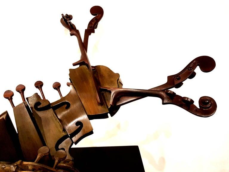 Arman - Rare Signed Violin Bronze Sculpture For Sale 3