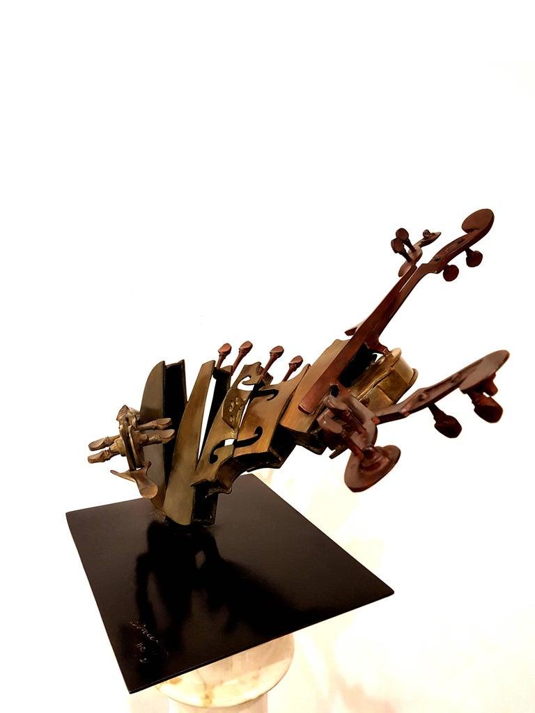 Arman - Rare Signed Violin Bronze Sculpture For Sale 4