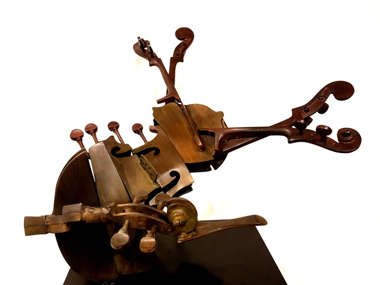 Arman - Rare Signed Violin Bronze Sculpture For Sale 5