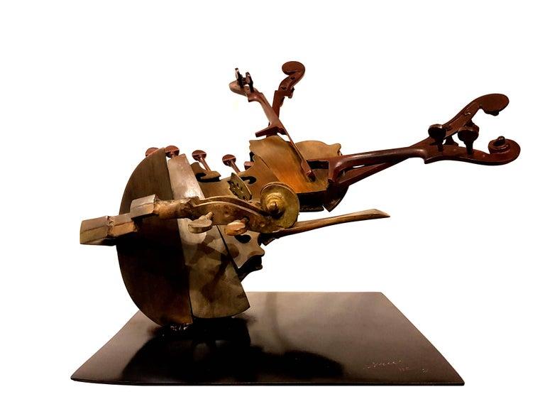 Arman - Rare Signed Violin Bronze Sculpture For Sale 6