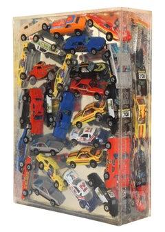 Matchbox Car Accumulation, Resin Sculpture by Arman