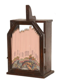 Pencils in a Wooden Box, Mixed Media Sculpture by Arman