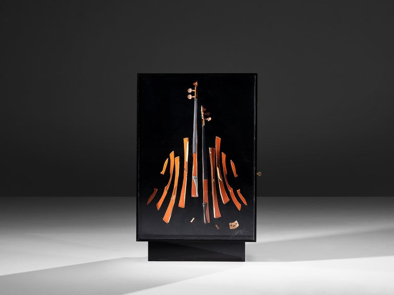 Arman 'Violon' Cutlery Service with 116 Pieces in Artistic Cabinet For Sale 4
