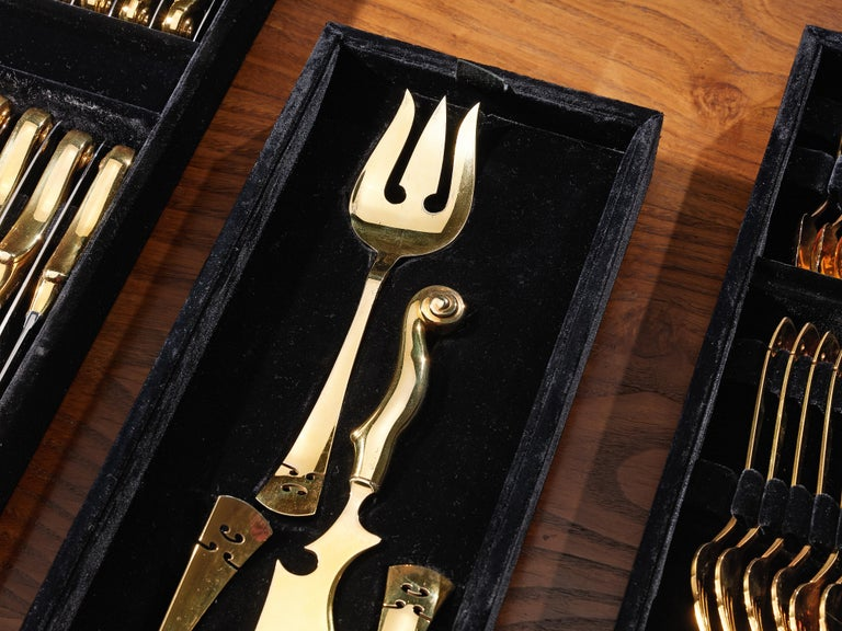 Arman 'Violon' Cutlery Service with 116 Pieces in Artistic Cabinet For Sale 5