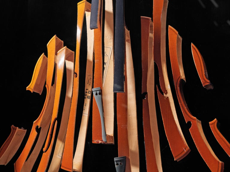 Arman 'Violon' Cutlery Service with 116 Pieces in Artistic Cabinet For Sale 8