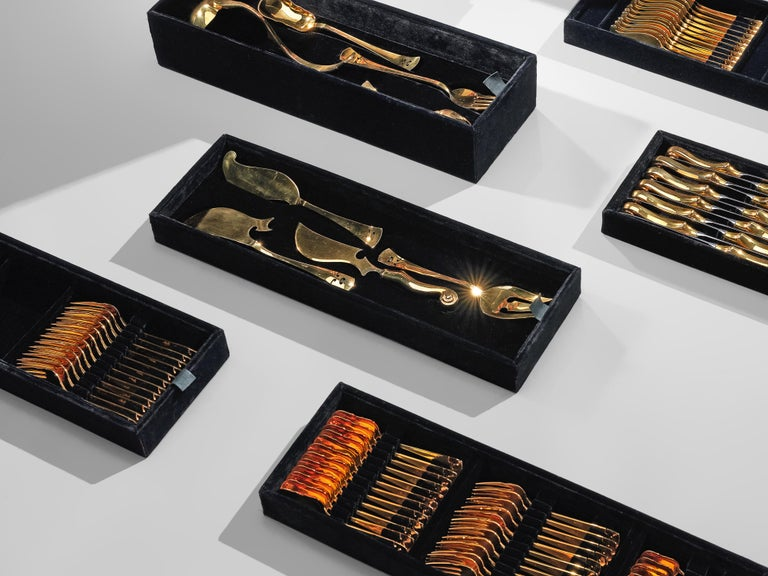 Arman 'Violon' Cutlery Service with 116 Pieces in Artistic Cabinet For Sale 10