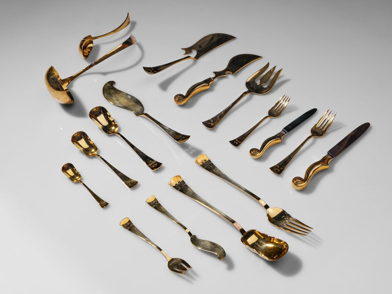 Arman 'Violon' Cutlery Service with 116 Pieces in Artistic Cabinet For Sale 1