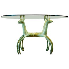 Armand-Albert Rateau Style Bronze Deer Sculptural Cocktail Table