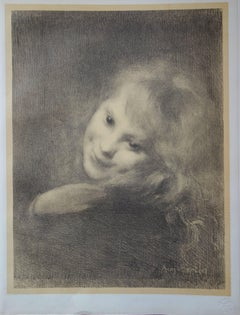 Laughing Girl - original lithograph (1897-1898)
