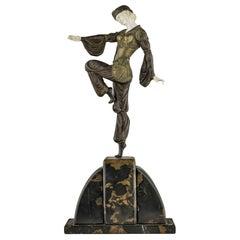 "Armand Godard ""Charmes de l'Orient"" Art Deco Bronze Sculpture"