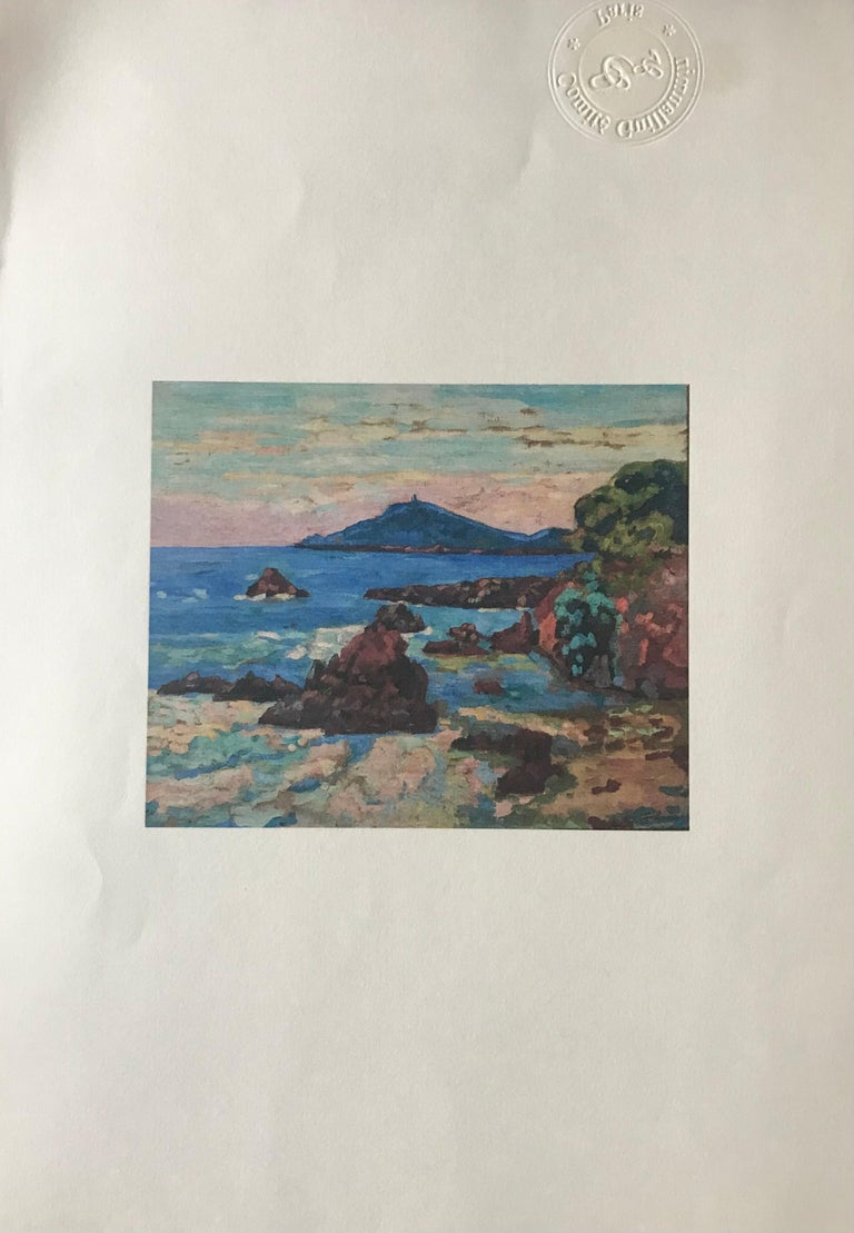 'Agay, le château et le Sémaphore'. Oil on canvas. Signed.  For Sale 2