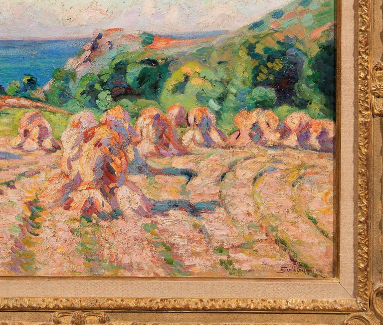 Haystacks, 1907 - Impressionist Painting by Armand Guillaumin