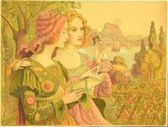Legende Dorée - Original Lithograph by Armand Point - 1898