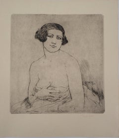 Awaking Model - Original drypoint etching, Handsigned, 1928