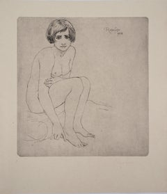 Young Model - Original drypoint etching, Handsigned, 1928
