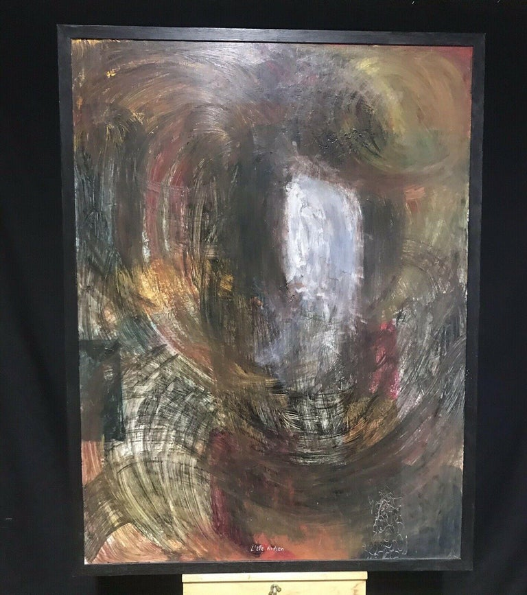 ARMAND ROTTENBERG (1903-2000) LARGE FRENCH EXPRESSIONIST ABSTRACT OIL - Expressionist Painting by Armand Rottenberg