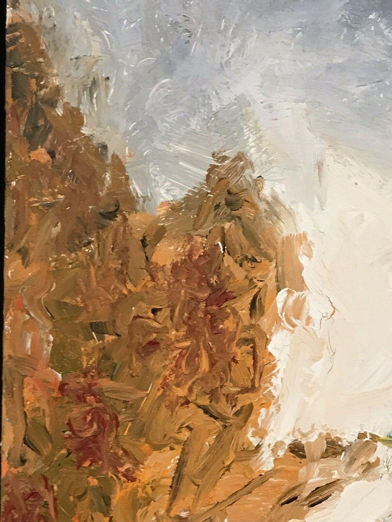 ARMAND ROTTENBERG (1903-2000) LARGE FRENCH EXPRESSIONIST OIL PAINTING For Sale 2