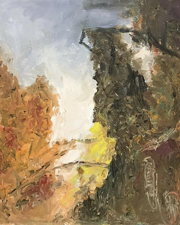 Armand Rottenberg Abstract Painting - ARMAND ROTTENBERG (1903-2000) LARGE FRENCH EXPRESSIONIST OIL PAINTING