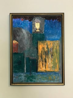 French Expressionist Abstract Oil Painting The Golden Chalice