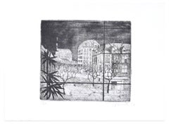 Paris - Original Etching by A. Buratti - 1947
