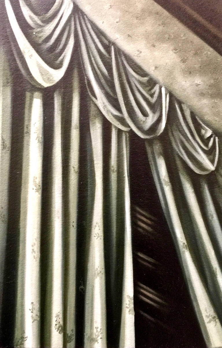 117 From Horror Vacui II Series, Oil on Cotton on Cardboard - Painting by Armando de la Garza