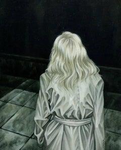 """121"" from ''Horror Vacui II'' series, Oil on Masonite, 2017"