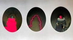 """""""#87, #93 & #100"""" Triptych From La Transvaloración de Todos Los Valores Series"""