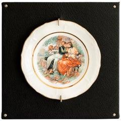 Untitled #7 From Los Infortunios De La Virtud Series, Porcelain Plate