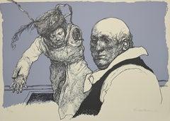Characters - Original Lithograph by Armando De Stefano - 1973