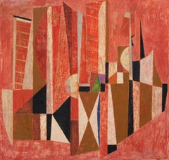 Armando Villegas Abstract Modern Latin American Painting OAS Exhibited, 1958