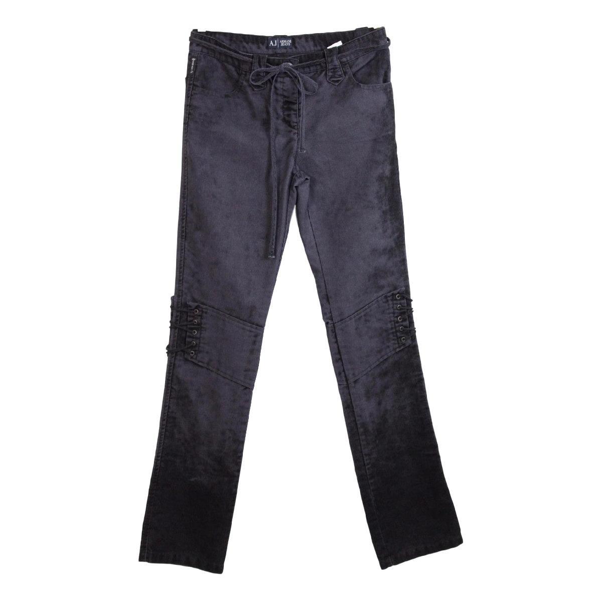 Armani Black Cotton Classic Trousers
