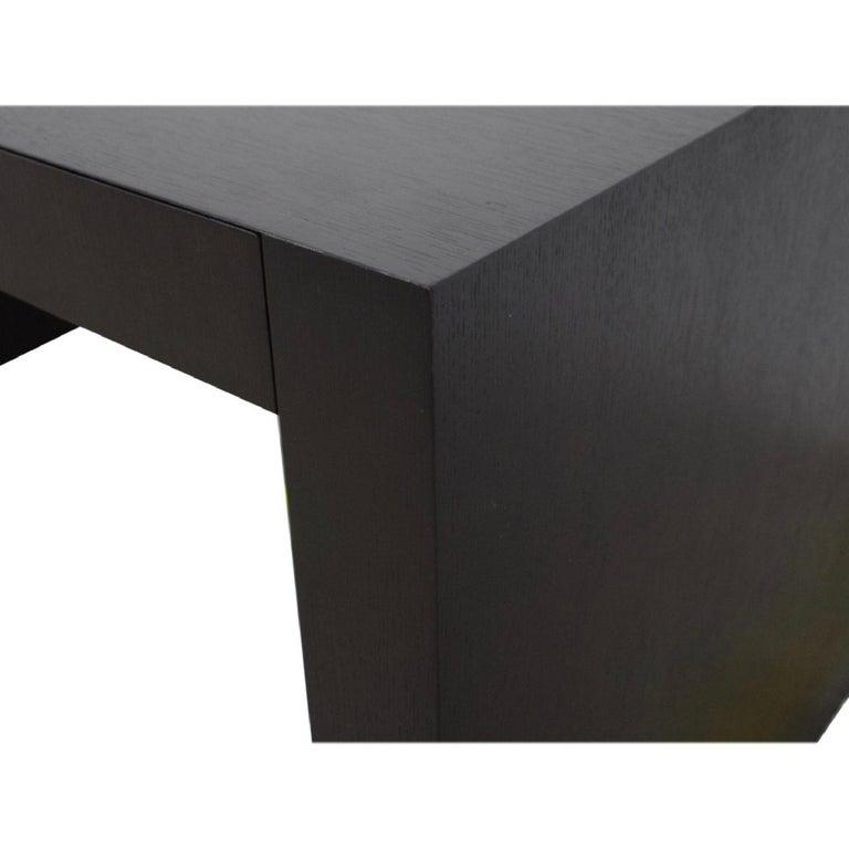Armani Casa Brown Black Oak Writing Table 'Paris' Desk Console, Modern Minimal In Good Condition For Sale In Brooklyn, NY