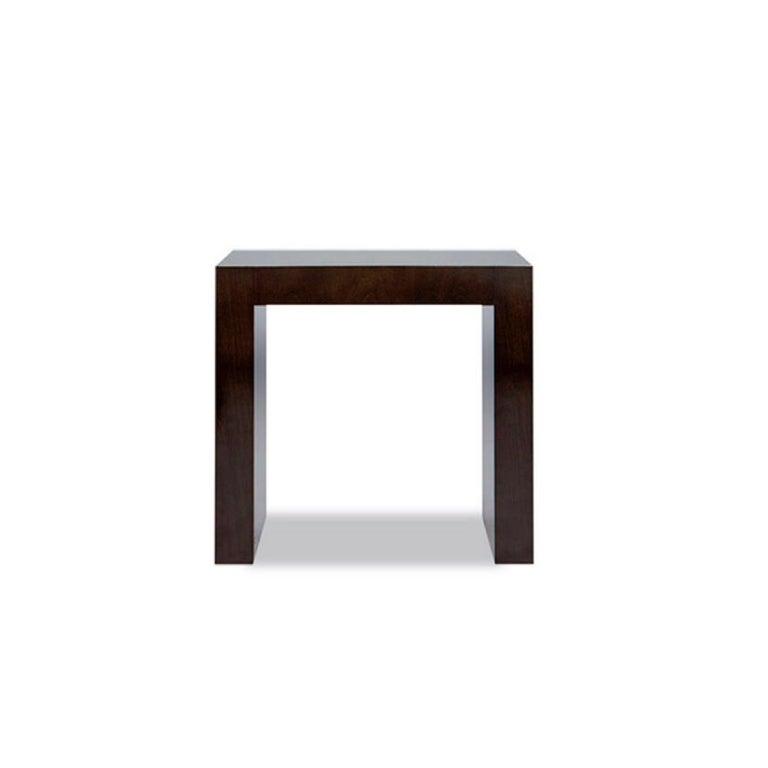 "Armani Casa Ebonized Cerused Oak ""Paris"" Side Table, Minimal Modern Italian In Good Condition For Sale In Brooklyn, NY"