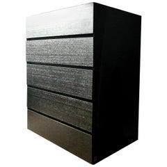 "Armani Casa 'Torino Drawers"" Ebonized Brown Black Oak Chest Highboy Cabinet 2015"