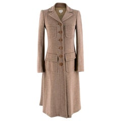 Armani Collezioni Beige Wool Duster Coat XXS 38