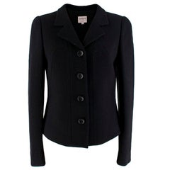 Armani Collezioni Black Button-Up Blazer XXS 38