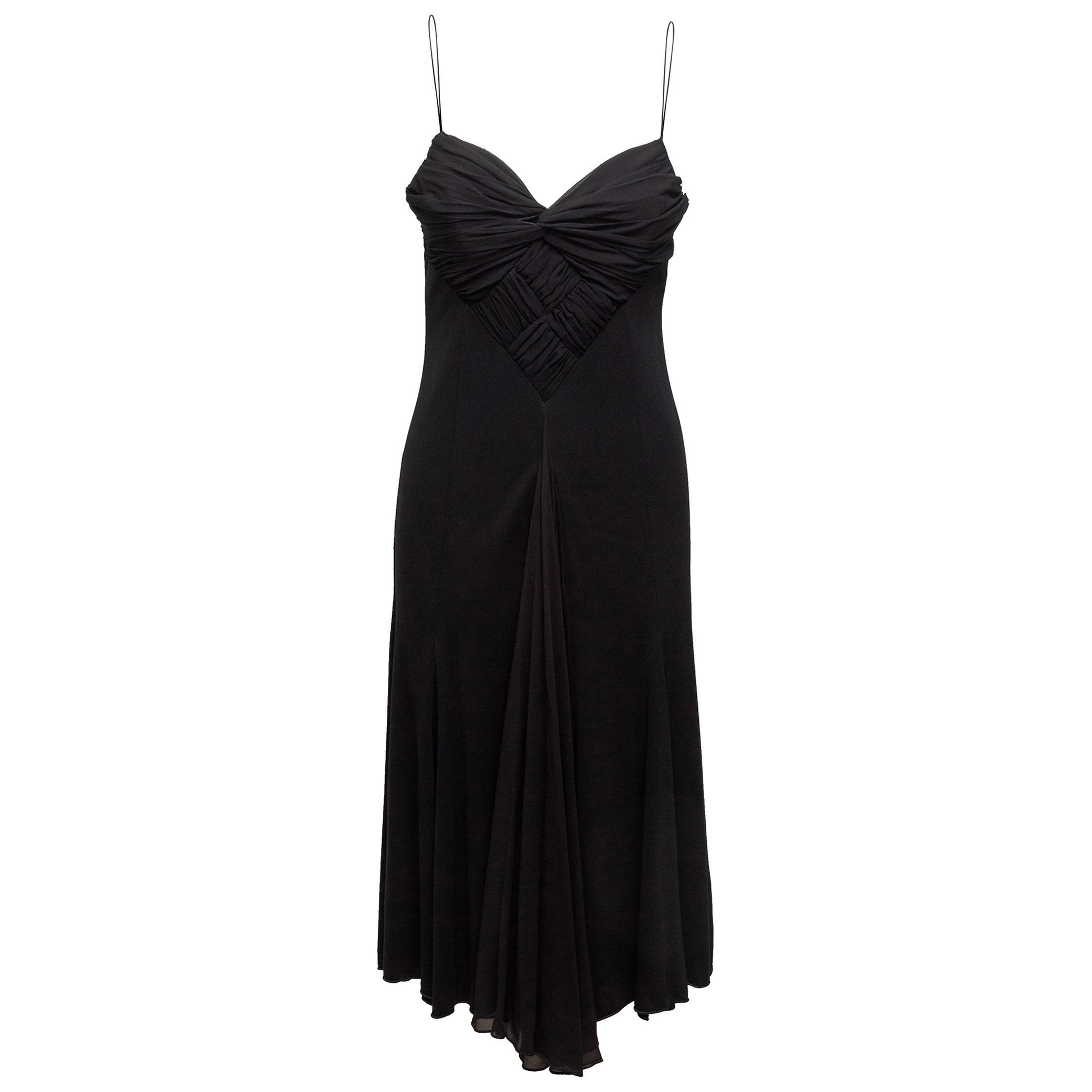 Armani Collezioni Black Sleeveless Evening Gown