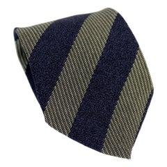 Armani Collezioni Blue Gray Silk Pinstripe Classic Tie 90s