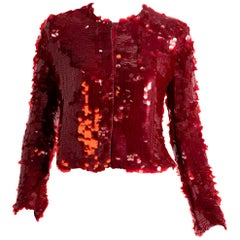 Armani Collezioni silk and sequin red blazer, 2000s