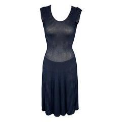 ARMANI COLLEZIONI Size 2 Navy Viscose / Polyester Sleeveless Cocktail Dress