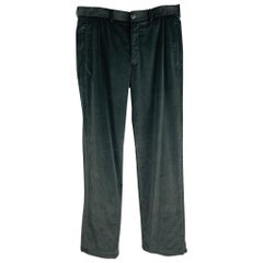 ARMANI COLLEZIONI Size 32 Black Cotton Zip Fly Dress Pants