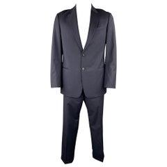 ARMANI COLLEZIONI Size 42 Regular Navy Pinstripe Wool Notch Lapel Suit