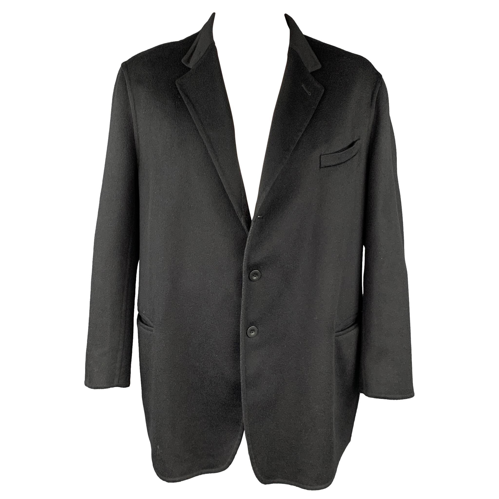 ARMANI COLLEZIONI Size 50 Black Cashmere Notch Lapel Sport Coat