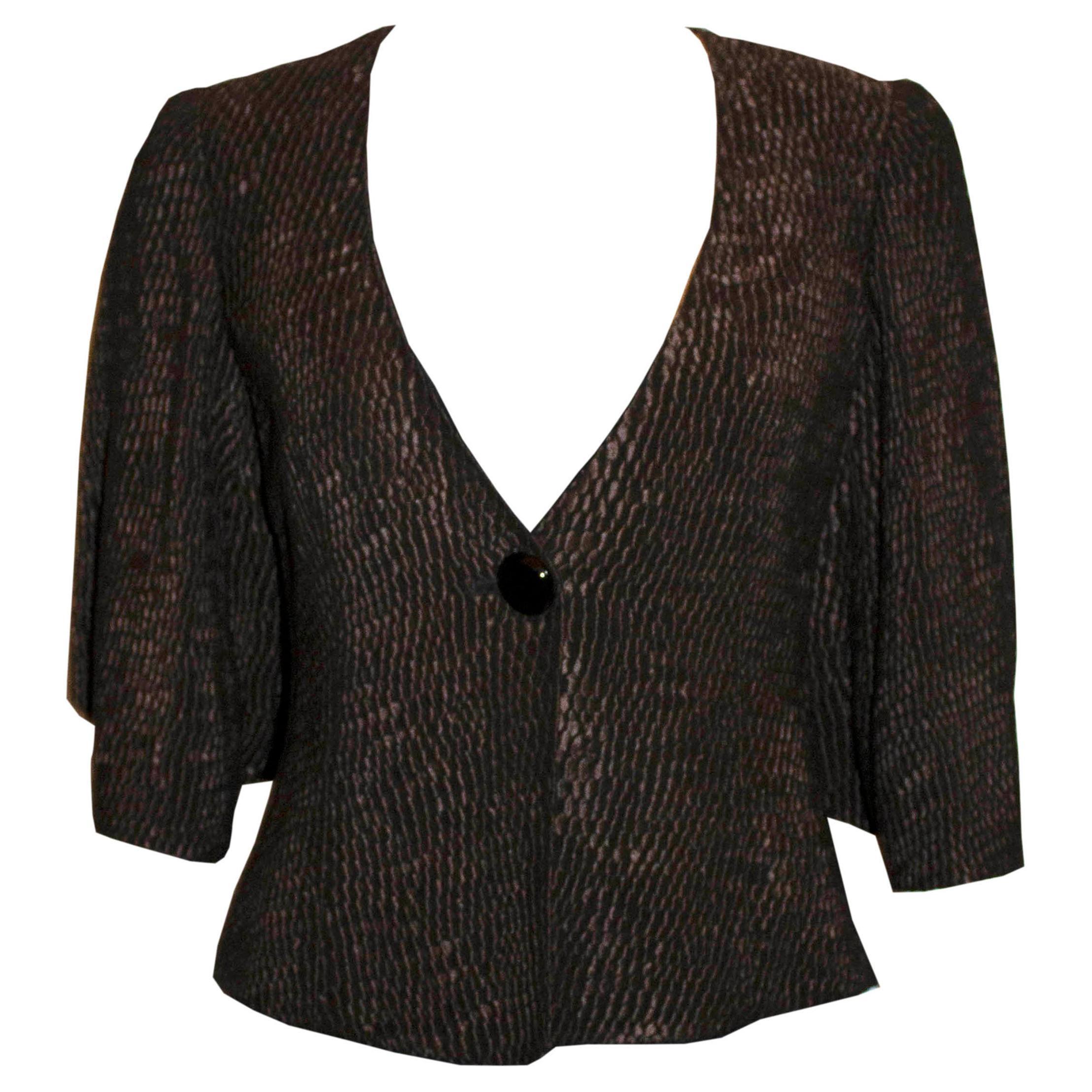 Armani Collezioni Textured Jacket