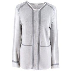 Armani Collezioni Woven Tweed Cardigan IT 44