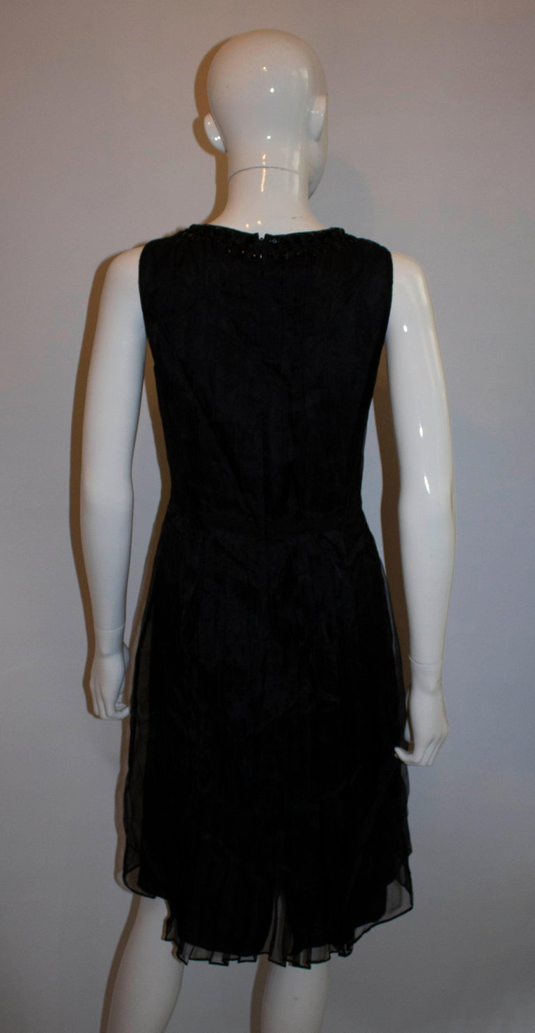Women's Armani Collezzioni Black Cocktail Dress with Pleat Detail For Sale
