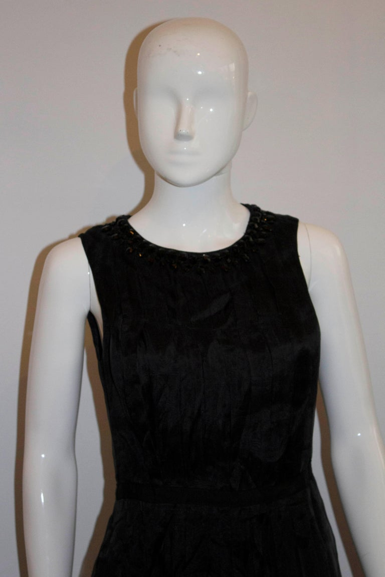 Armani Collezzioni Black Cocktail Dress with Pleat Detail For Sale 1