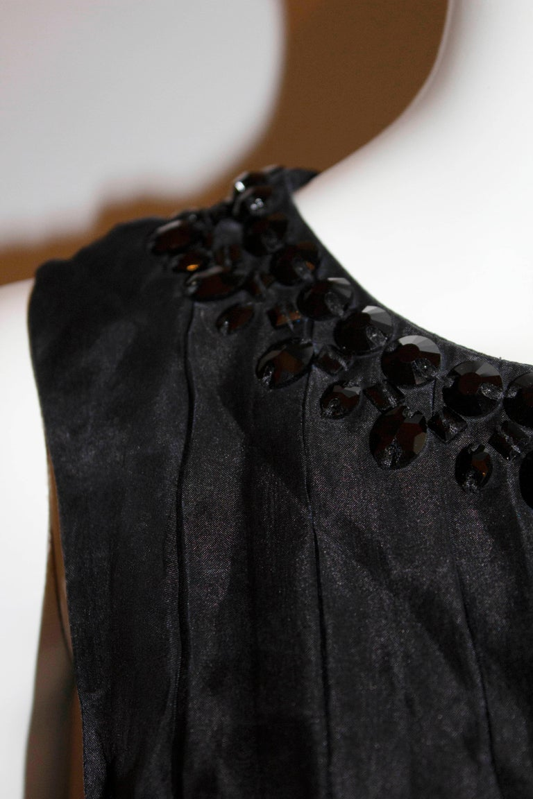 Armani Collezzioni Black Cocktail Dress with Pleat Detail For Sale 2